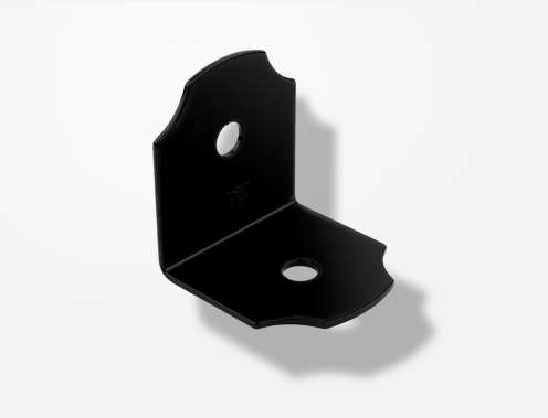 modern metal bracket for wood beam