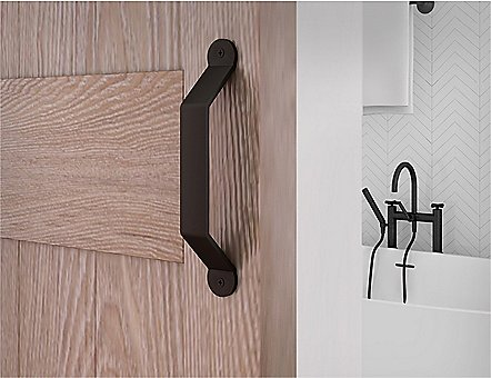 Standard Matte Black Barn Door Handle