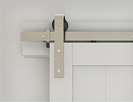 Classic Satin Nickel Barn Door Track