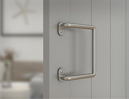 Classic Satin Nickel Barn Door Handle