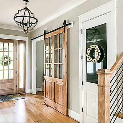 Farmhouse Style Entryway Barn Door