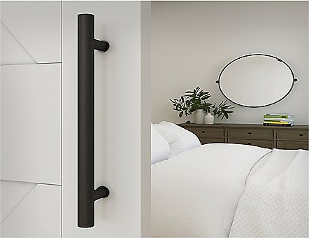 Premium Matte Black Barn Door Handle