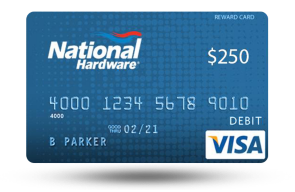 National Hardware Visa Gift Card